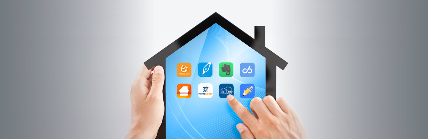 apps displayed on house shaped tablet